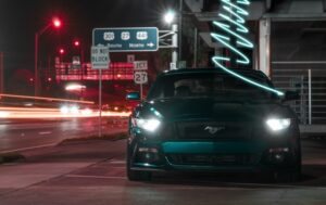 head light with LHD car